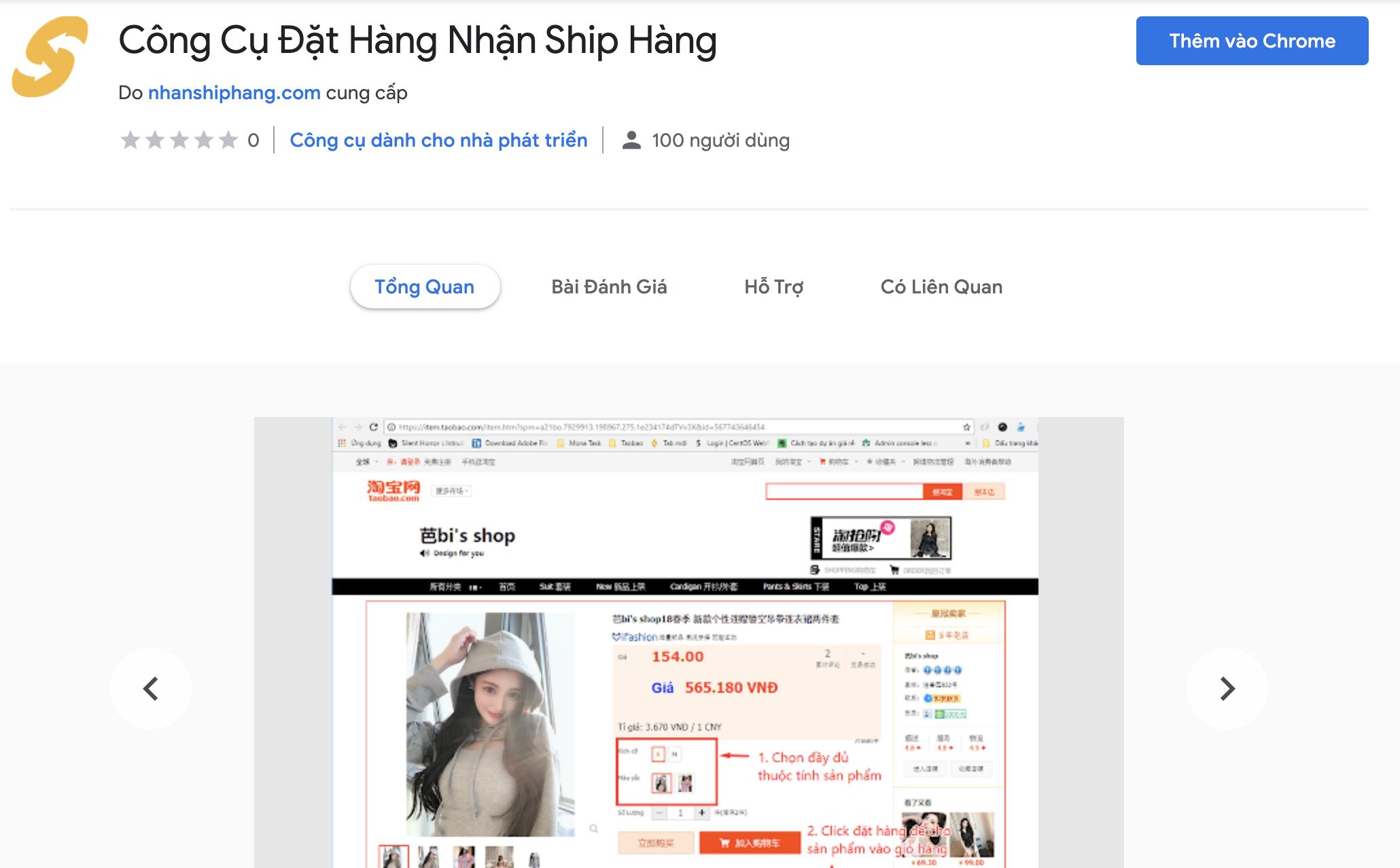 Đặt hàng hộ Trung Quốc Việt Nam addon