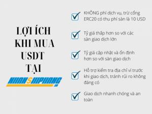 Mua USDT ở Nhanshiphang có rất nhiều lợi ích