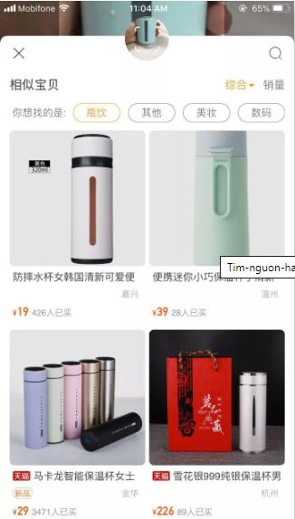 Cách tìm nguồn hàng trên Taobao bằng từ khoá và hình ảnh