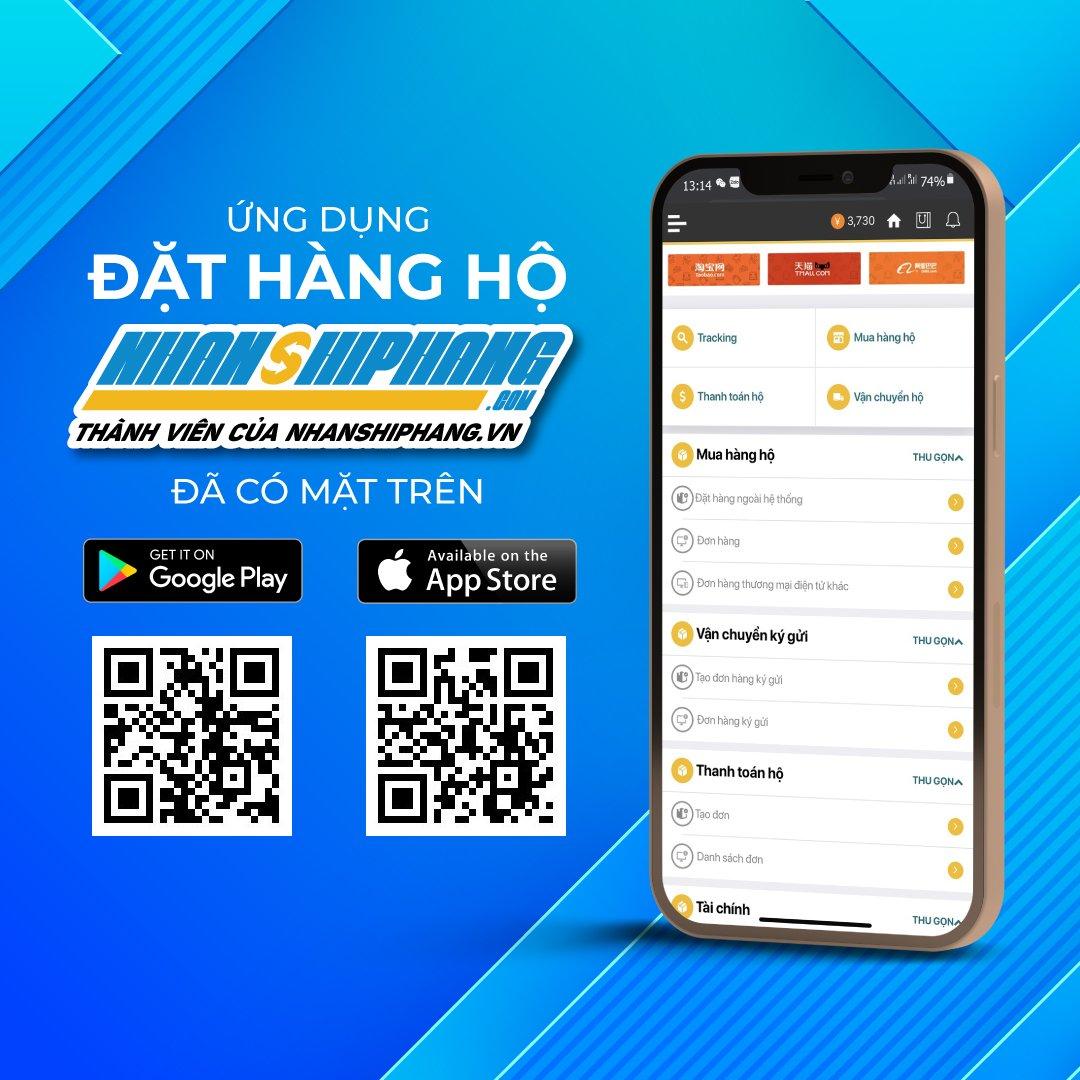 Ứng dụng Đặt Hàng Hộ Nhanshiphang.com trên hệ điều hành android và IOS